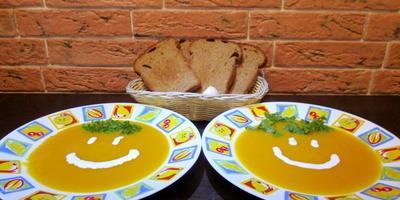 Яркий тыквенно-овощной суп-пюре