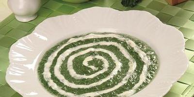Суп-пюре из замороженного шпината