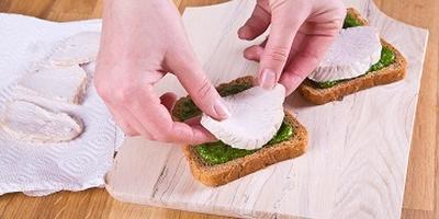 Сэндвич с индейкой и зеленым соусом. Мастер-класс