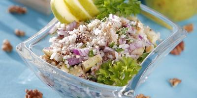 Салат со скумбрией и белыми грибами