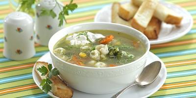 """Мастер-класс """"Овощной суп с пельменями"""""""