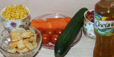 Летний салатик из овощей