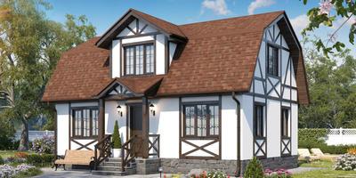 Как практически оформить фасад дома в стиле фахверк из сайдинга?
