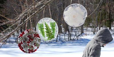 Уличные украшения для новогодней дачи