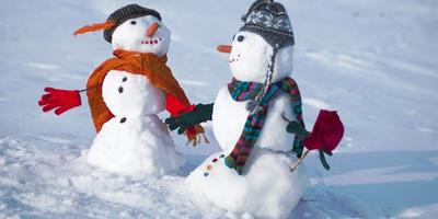 Готовимся к Новому году. Снеговики на даче