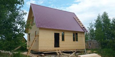 Строим дом на даче...