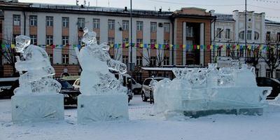 Зимний ледовый городок