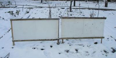 Удобный самодельный снегозадержатель