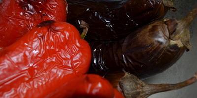 Котлеты из баклажан с болгарским перцем