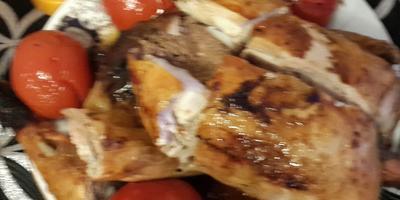 """Азербайджанское блюдо """"Левенги"""" - курица фаршированная орехами"""