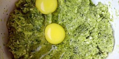 Сливочные кексы из брокколи