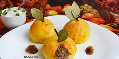 """Закуска """"Натюрморт"""" из картофеля и грибов"""