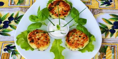 уДачные сырники с зеленью