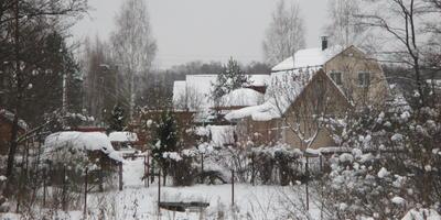 СНТ под снегом
