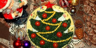 Новогодняя ёлочка на праздничном столе...