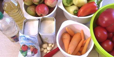 Рецепт приготовления аджики с яблоками (видео)