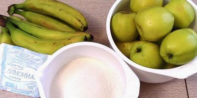 Рецепт варенья из яблок и бананов (видео)