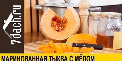 Рецепт маринованной тыквы с медом (видео)