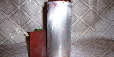 Подсвечник для дачи и сада из алюминиевых банок