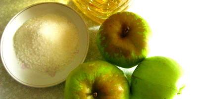 Блинные треугольнички с яблоками