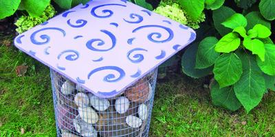 Мастер-класс: садовый пуфик-габион