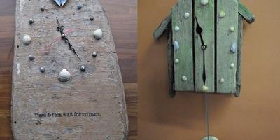 Изюминка дачного интерьера - оригинальные часы