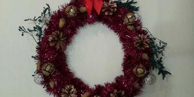 """Элемент декора """"Рождественский веночек"""""""