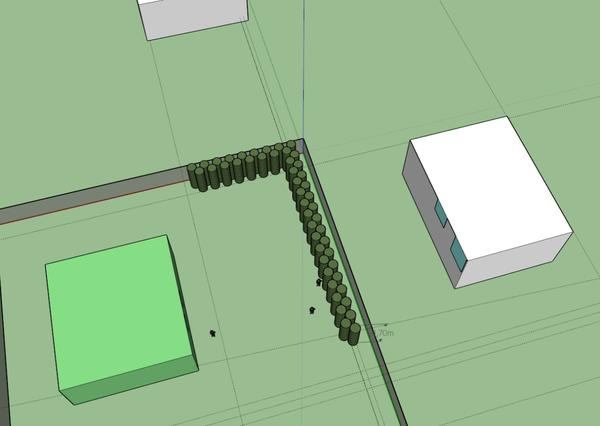 Схема участка и изгороди