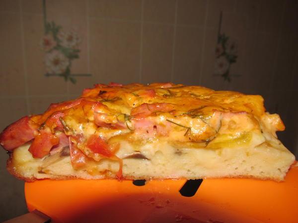 Кусочек пиццы.