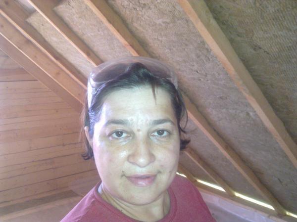 закладывание(утепление) крыши ватой