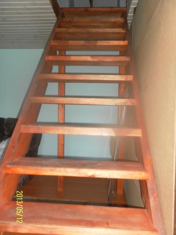 лестница пока без перил