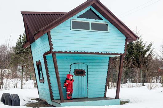 домик для детей зимой