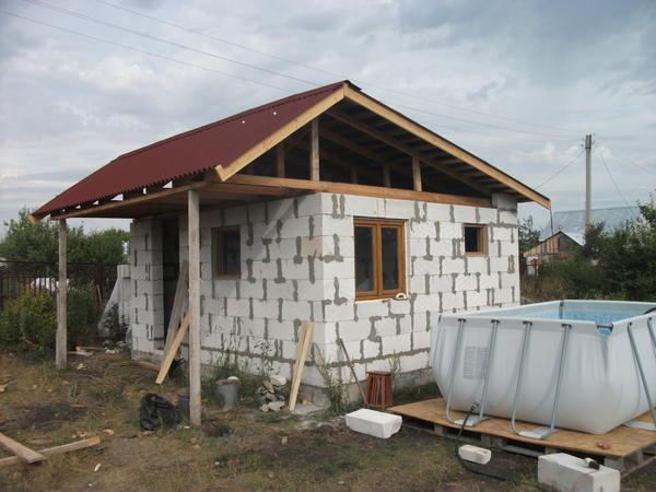 крыша с ондулином
