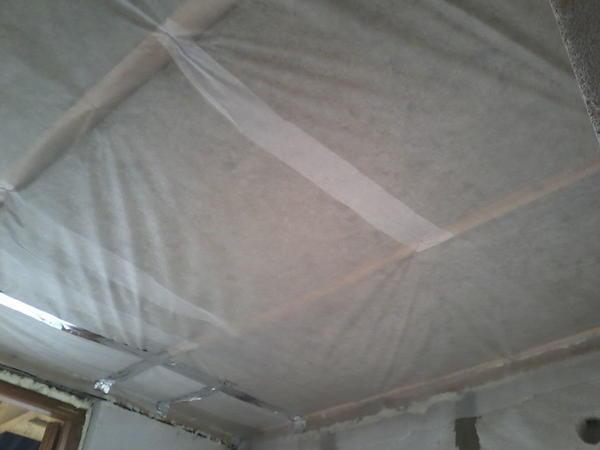 утепление потолка в предбаннике
