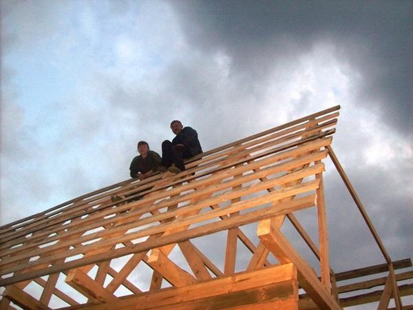 Каркас для крыши готов!