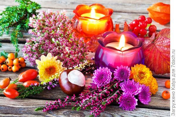 букет из свечей