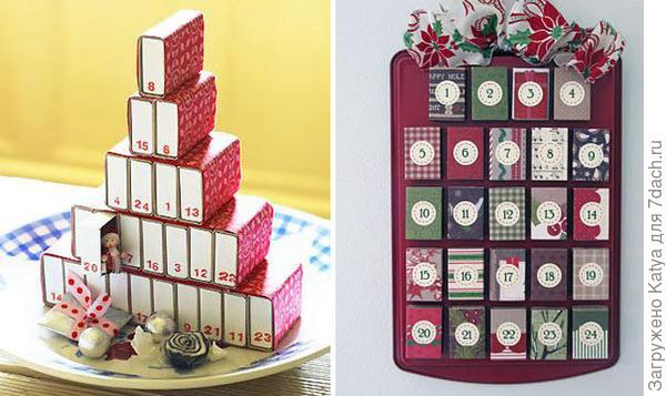 Календарь из спичечных коробок. Фото с сайта www.brit.co
