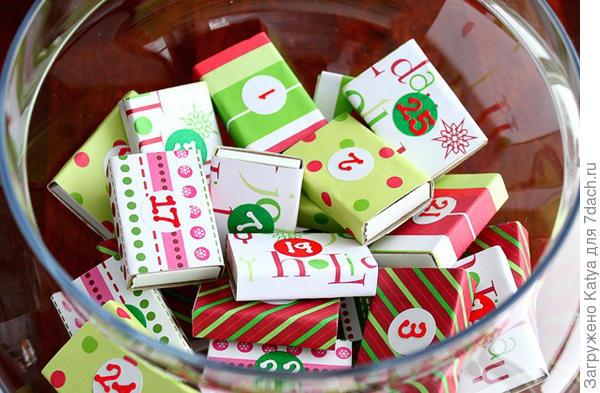 Адвент-календарь. Фото с сайта http://www.justagirlblog.com