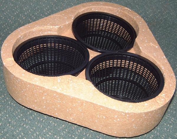 Понтон для плавающей клумбы с гнездами для горшков