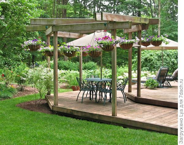 Патио на специально построенной площадке