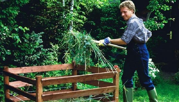 Добавка травы в компост