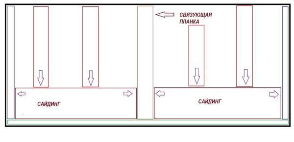 Монтаж панели сайдинга с соединением