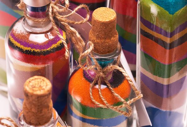 Декор солью (изнутри)