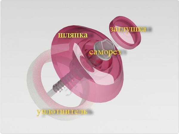 Термошайба для крепления поликарбоната фото сайта 4geo.ru