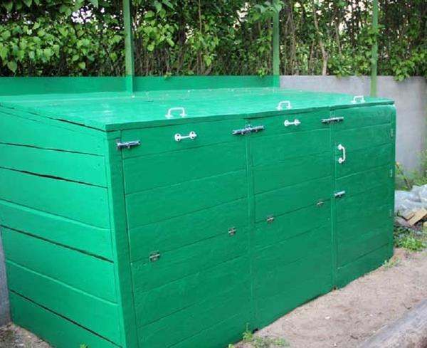 Готовый ящик для компоста. Фото с сайта liveinternet.ru