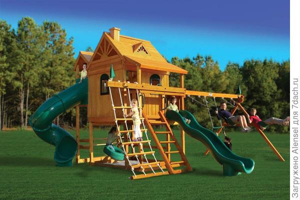 Детский домик с игровой площадкой