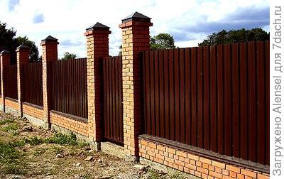 Забор столб профнастил своими руками фото 676