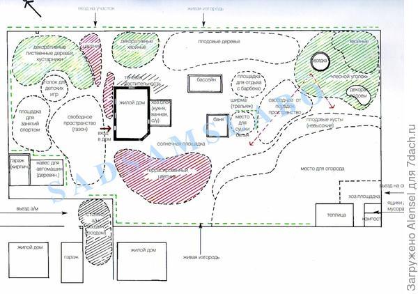 Пример плана-схемы дачного участка