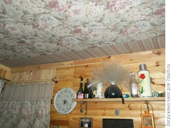 Потолок на дачу своими руками фото
