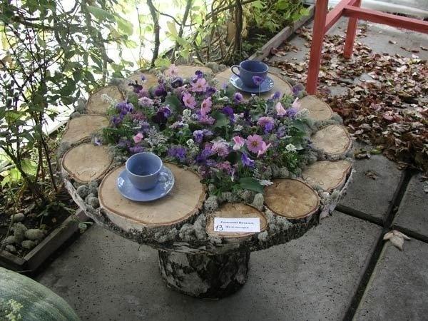 Клумба-столик